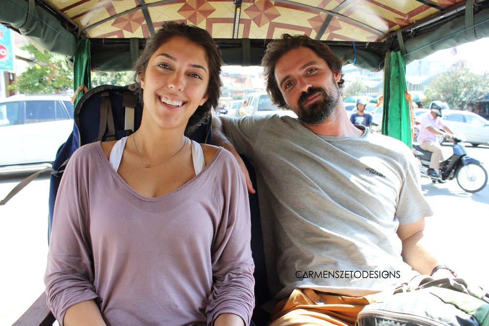 Christina and Matt in our first tuk tuk experience