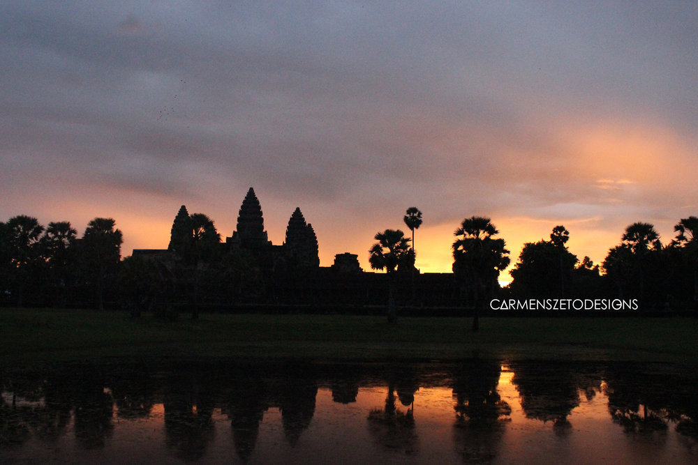 Sunrise at Angkor Wat.