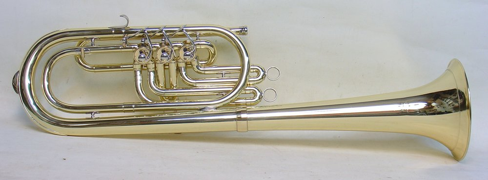 Bb baritone with bell over the shoulder
