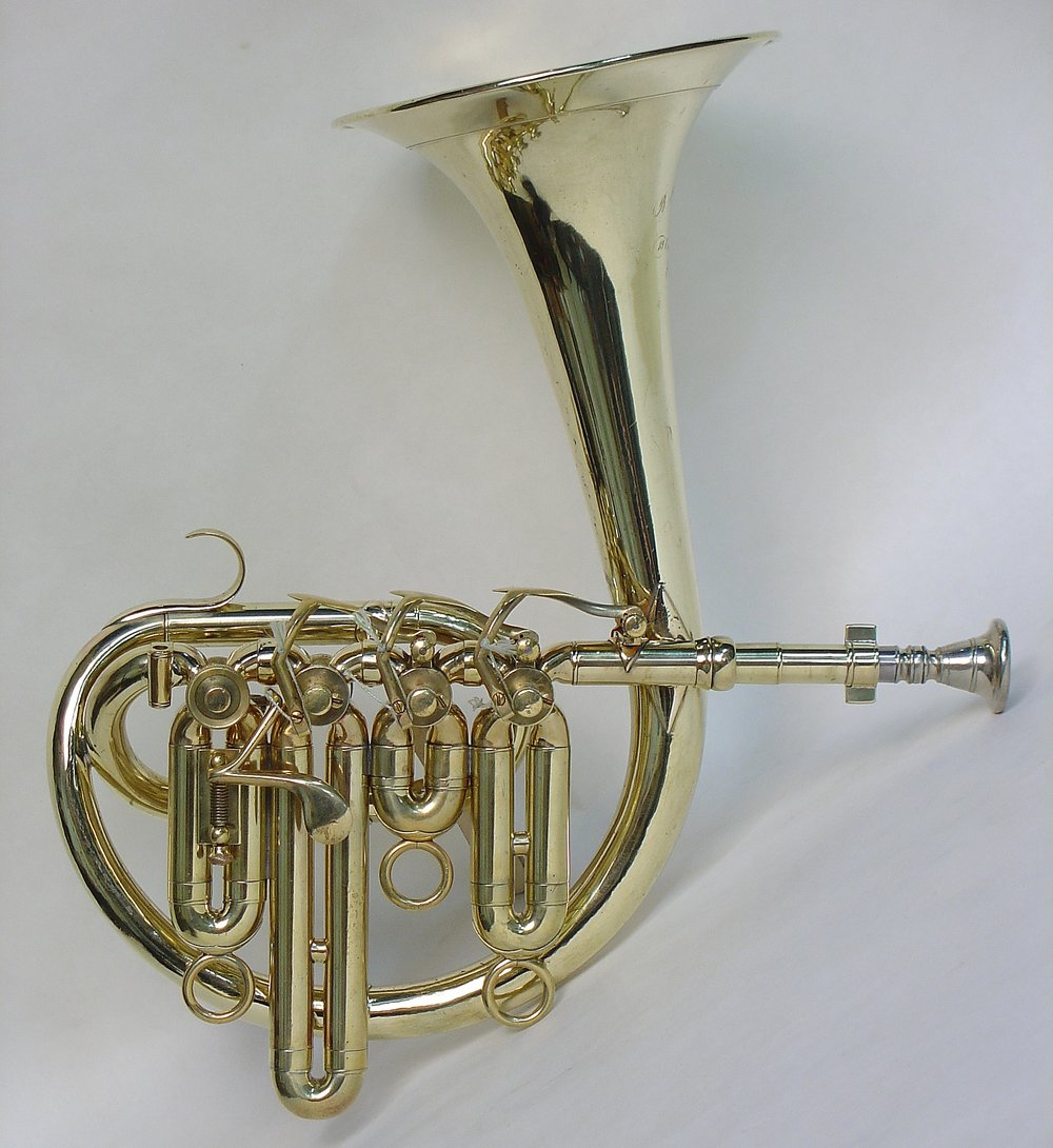 Circular Cornet in C, Four Valves, 1855