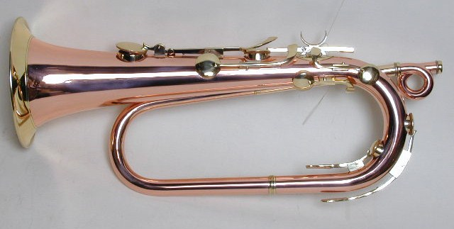 Bb Keyed Bugle, Copper and Brass