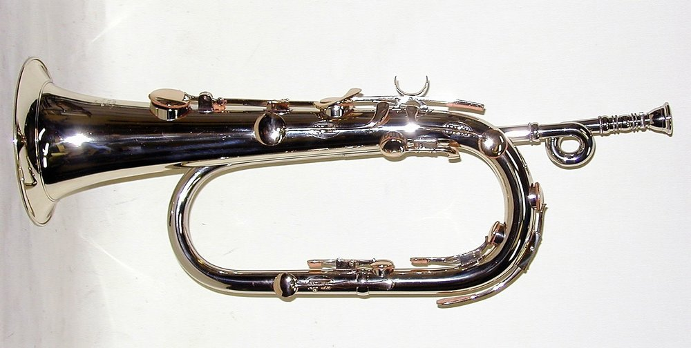 Bb Keyed Bugle, Solid NIckel Silver