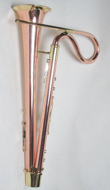 English Bass Horn, Copper and Brass
