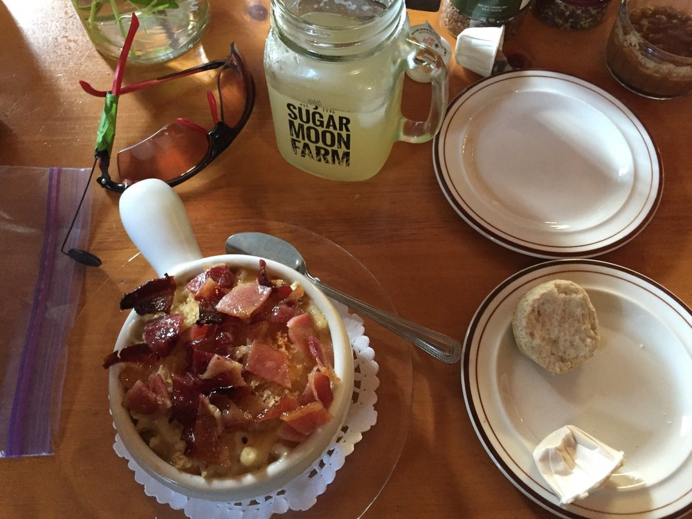 Sugar Moon Farm does not disappoint (Photo--and glasses--courtesy of Howard Weeks)