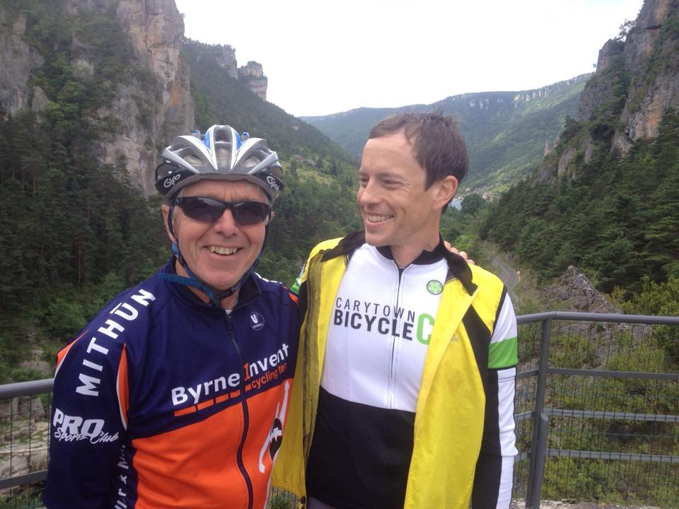 Glenn Erickson and Peter Henry, 2013, gorges of the Tarn, France (photo: Tom Maciag)