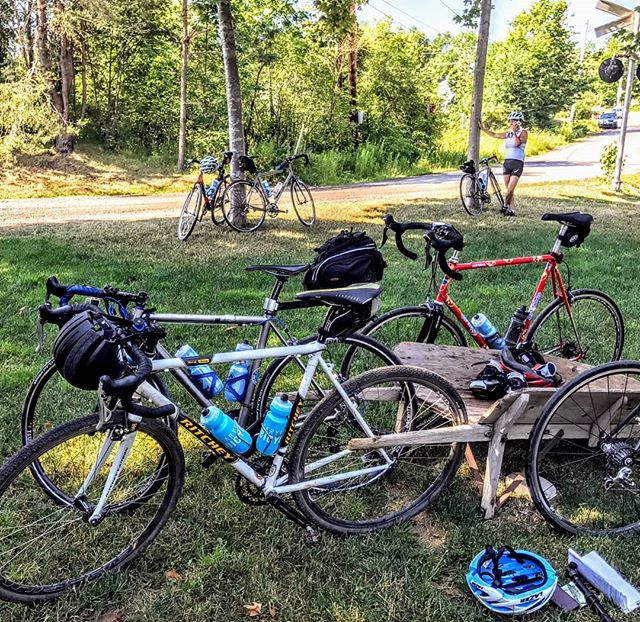 Bike Rapture comes to the Tatamagouche Train Inn  #gravelgrinder #gravelbike #gravelcyclist #roadbike #travelbybike #cycling