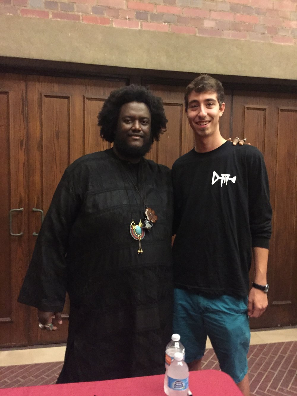 Aaron with saxophone player Kamasi Washington