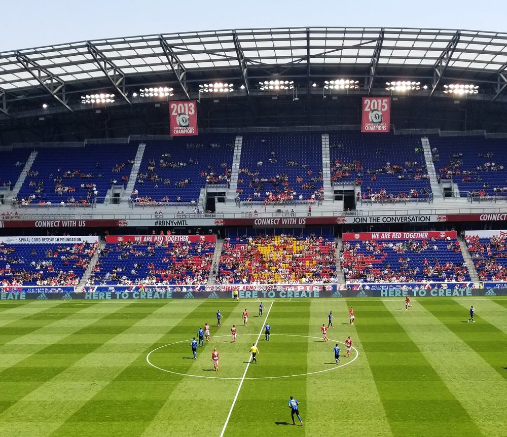 NY Redbulls with a victory over the Montreal Impact