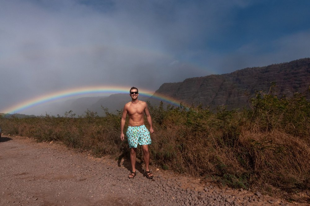 Most insane rainbow I had ever seen on the west-side of Kauai