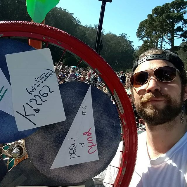 See me below the prize wheel. Swan stage. I'll be here all day. #hardlystrictlybluegrass