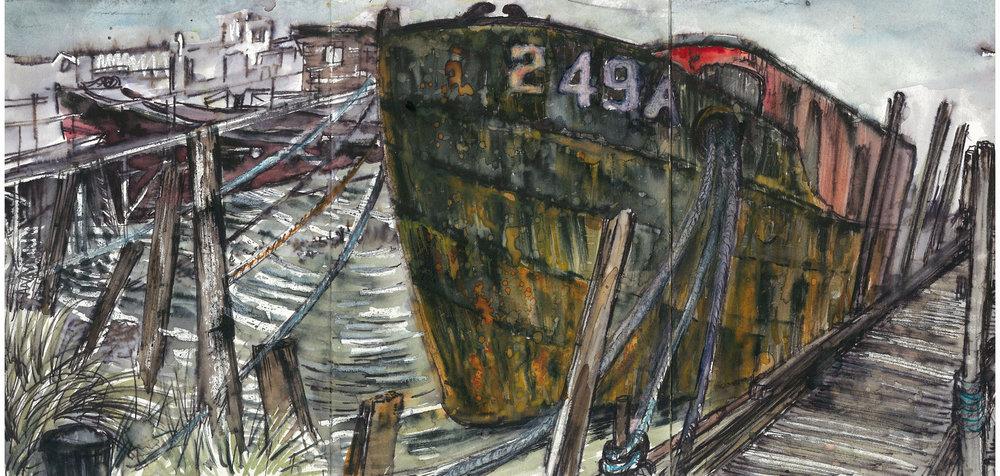 Mark's rusty black boat.jpg
