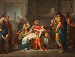 Bénigne Gagneraux, The Blind Oedipus Commending his Children to the Gods
