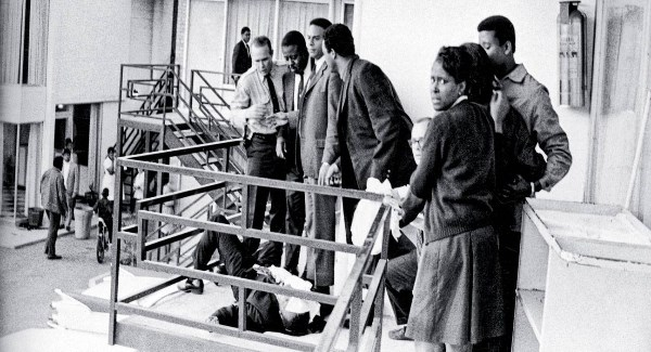 Martin Luther King dying--Lorraine Motel, Memphis, Tennessee, April 4, 1968