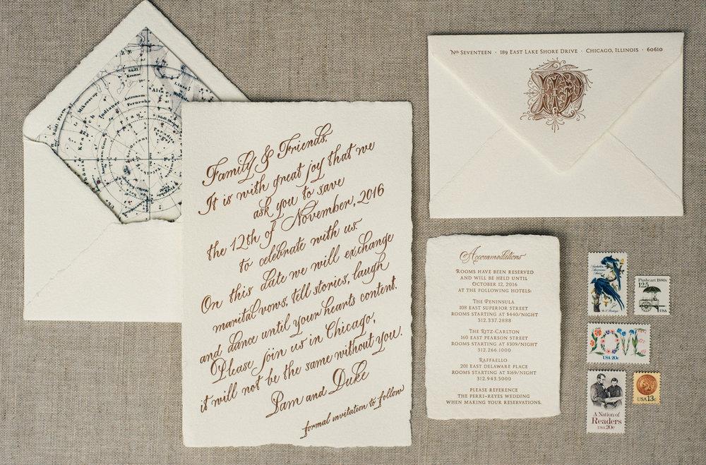 Suite Design: Elizabeth Grace  Calligraphy: Joi Hunt