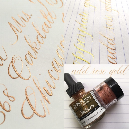 copperplate rose gold collage