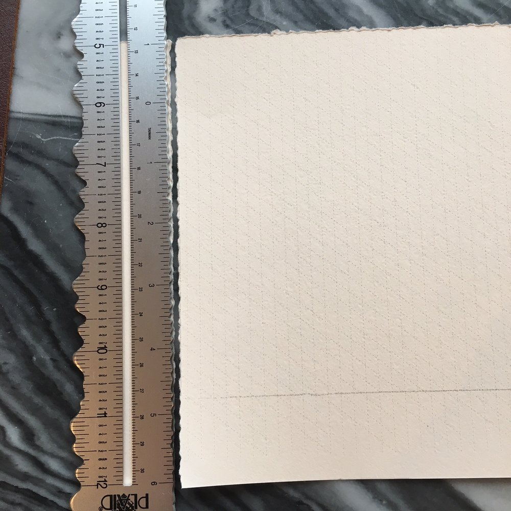 The correct side, put your ruler along the bit you want to remove.