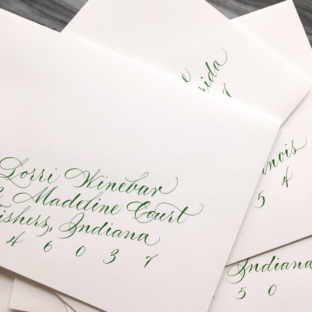 green ink envelopes.JPG