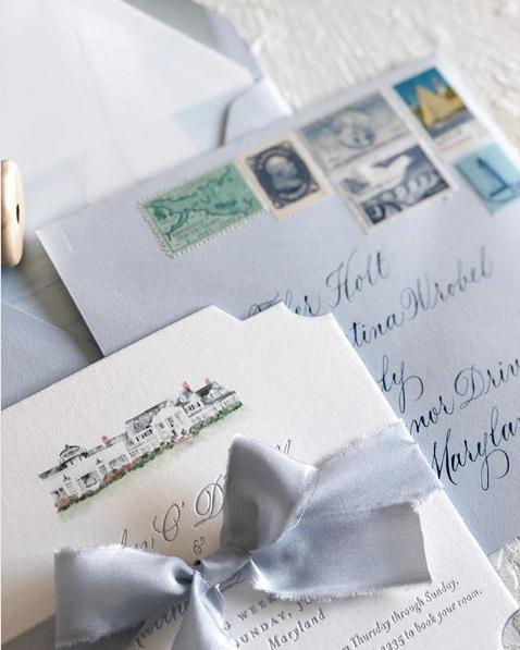 Stationery Design: Ruby the Fox  Spot Calligraphy & Envelope Addressing: Joi Hunt