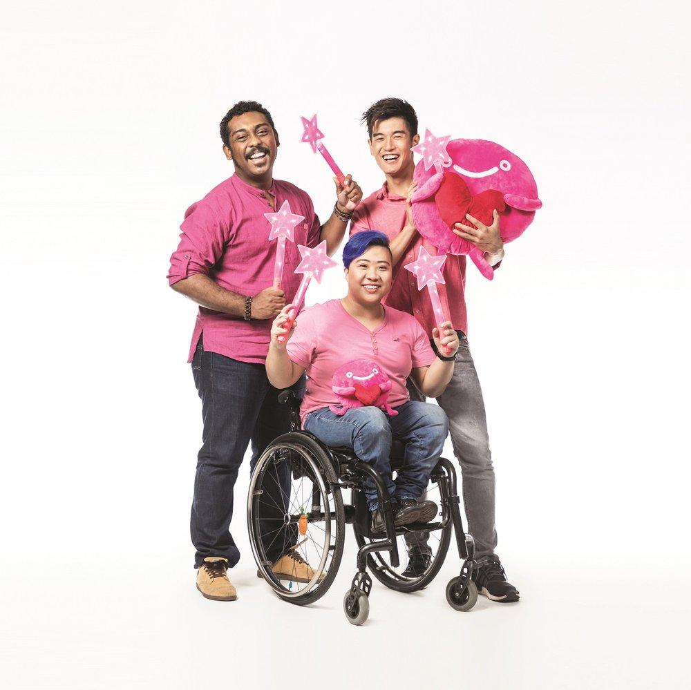 Clockwise from top left: Ebi Shankara, Nathan Hartono and Theresa Goh