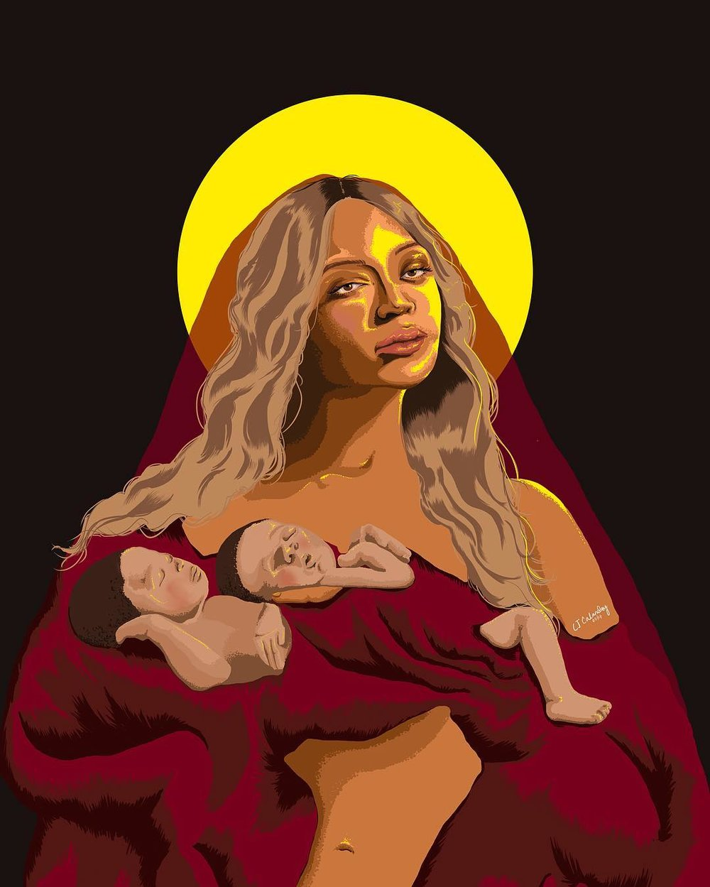 chaariz filipina london artist digital doodler - beyonce.jpg