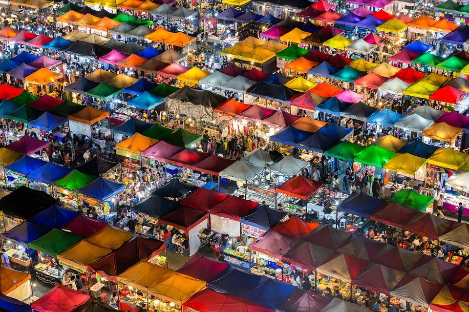 """Colorful Market"" by Kajan Madrasmail"