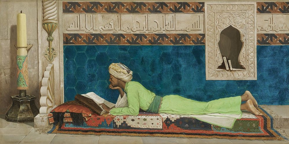 "Osman Hamdy Bey, ""A Young Emir Studying"""
