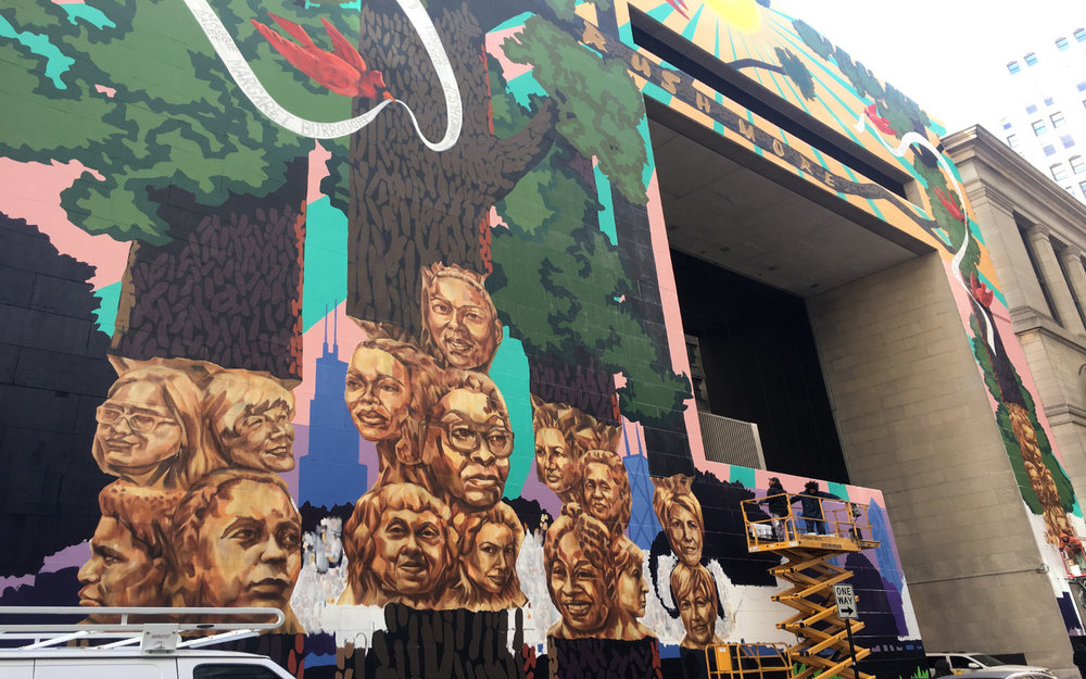 Kerry James Marshall largest mural to date Rushmore at Chicago Cultural Center to honor 20 women in cultural and art scene (5).jpg