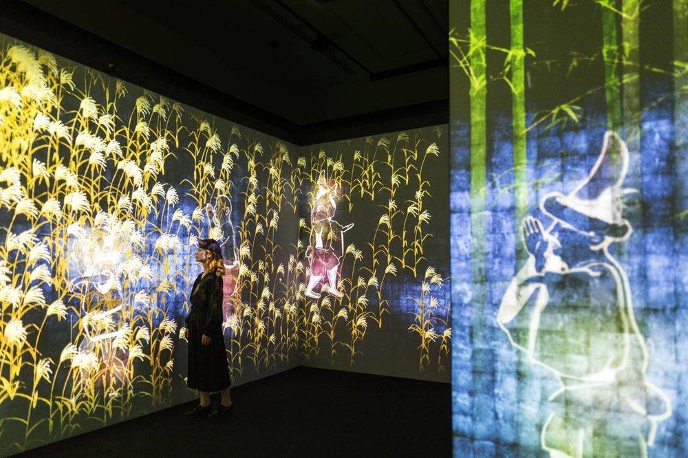 5 January – 12 August 2018; Walk Walk Walk teamLab video digital installation for Light to Night Festival National Gallery Singapore; Singapore; Globetrotter Magazine 02.jpg