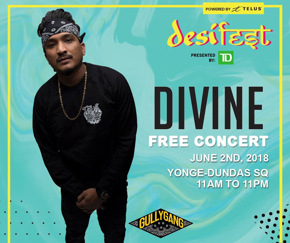 2 june 2018; india rapper divine at desifest, a one-day event celebrating south asian communities in canada; toronto, canada; globetrotter magazine.jpg