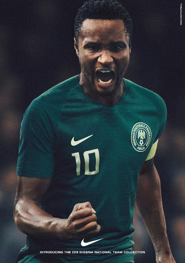 Jon Obi Mikel - Nigeria 2018 World Cup National Team aka Super Eagles wears Naija Spirit jersey by Nike 21.jpg