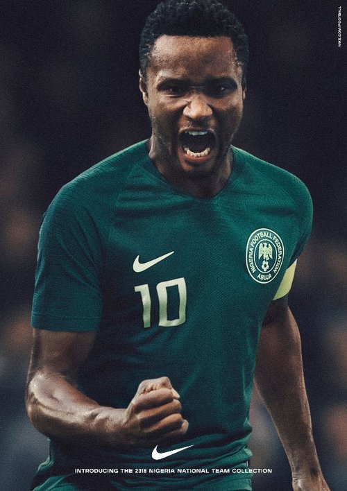 c5986d778 Jon Obi Mikel - Nigeria 2018 World Cup National Team aka Super Eagles wears  Naija Spirit