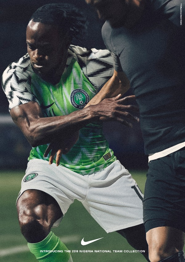 ... victor moses nigeria 2018 world cup national team aka super eagles  wears naija spirit jersey abb2766bf