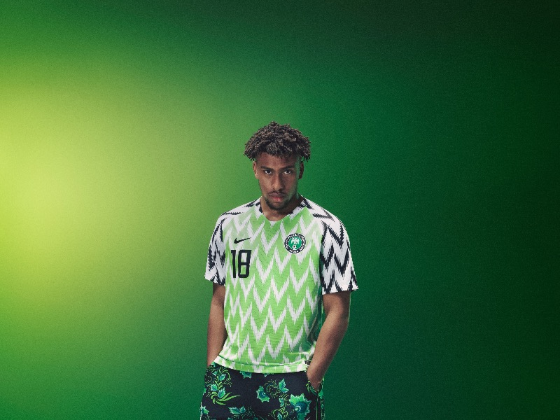 Nigeria 2018 World Cup National Team aka Super Eagles wears Naija Spirit jersey by Nike 10.jpg