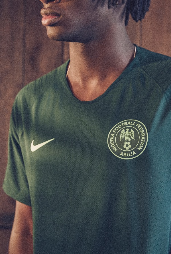 Nigeria 2018 World Cup National Team aka Super Eagles wears Naija Spirit  jersey by Nike 22 b7fc27d43