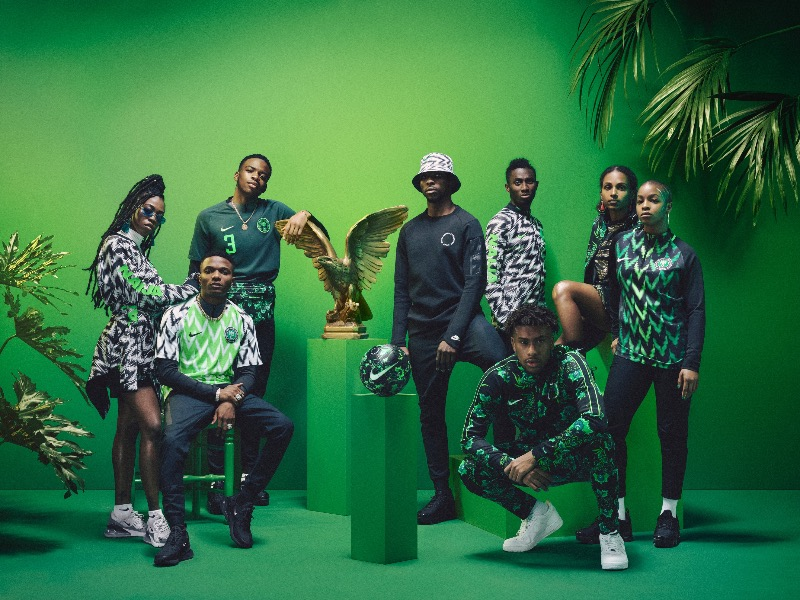 Nigeria 2018 World Cup National Team aka Super Eagles wears Naija Spirit  jersey by Nike 15 8eddadde8