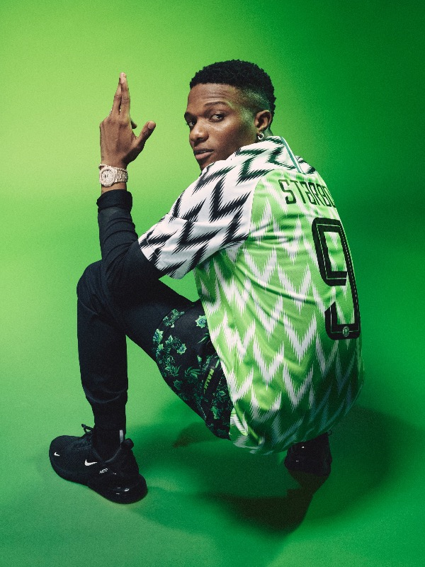 Nigeria 2018 World Cup National Team aka Super Eagles wears Naija Spirit  jersey by Nike 21 7be383ca4