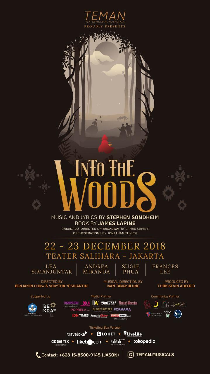 The poster for TEMAN's production of  Into the Woods