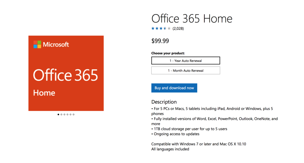 MICROSOFT OFFICE 365 FOR HOME USERS