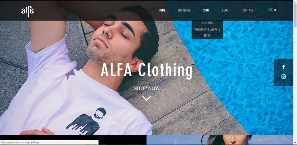 Example work done for  Alfa Clothing