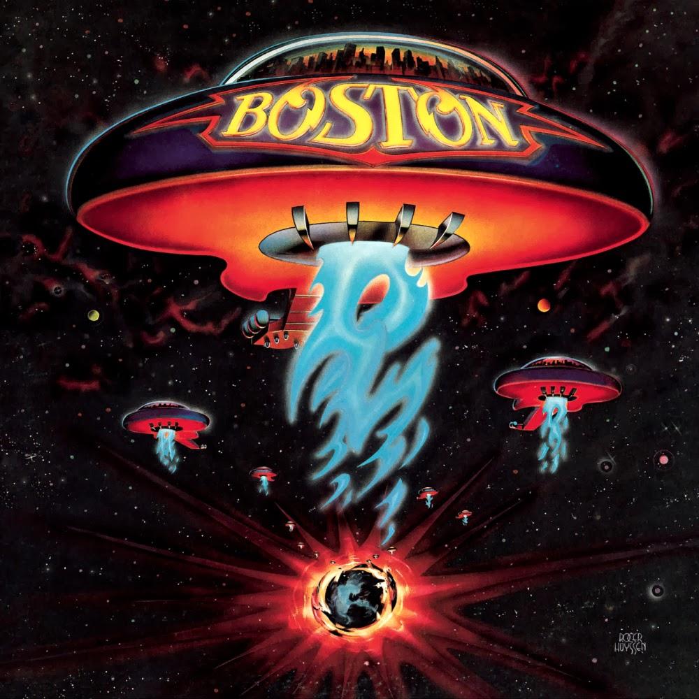 Boston's first album, designed by Paula Scher in 1976