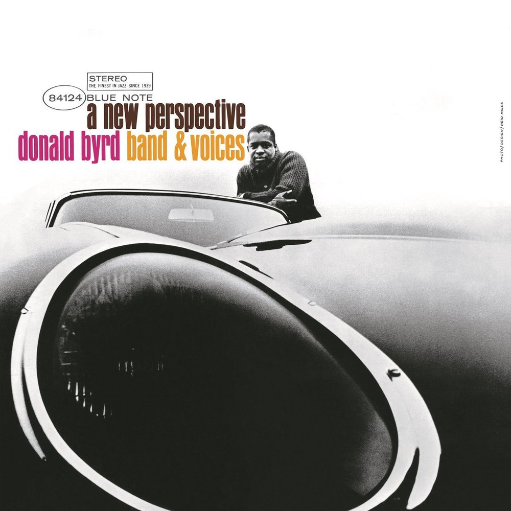 Photography and design by Reid Miles for Donald Byrd's  A New Perspective,  1964