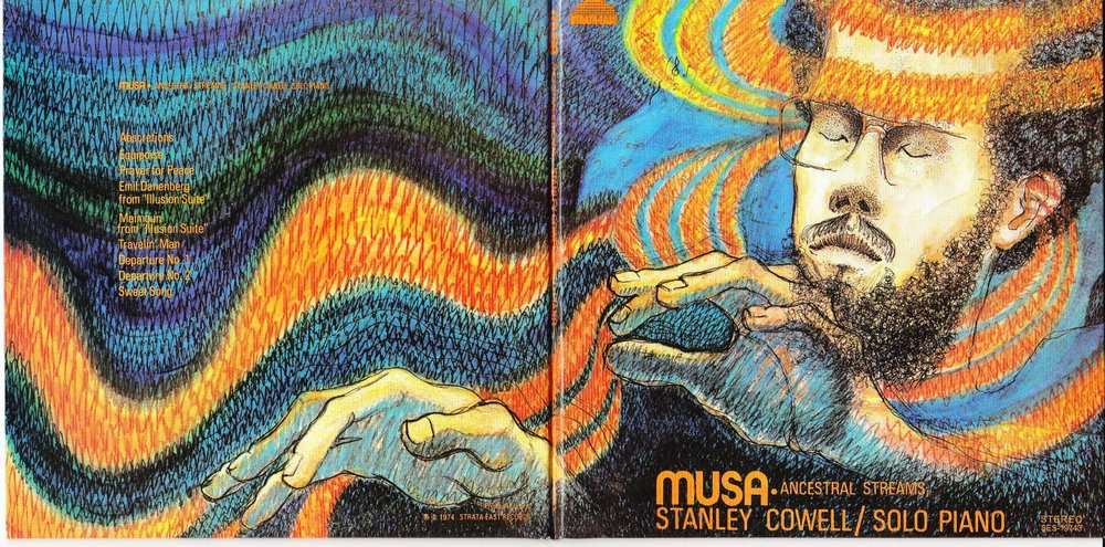 Full album jacket design by Carole Byard for Stanley Cowell's  Musa: Ancestral Streams , Strata-East, 1974