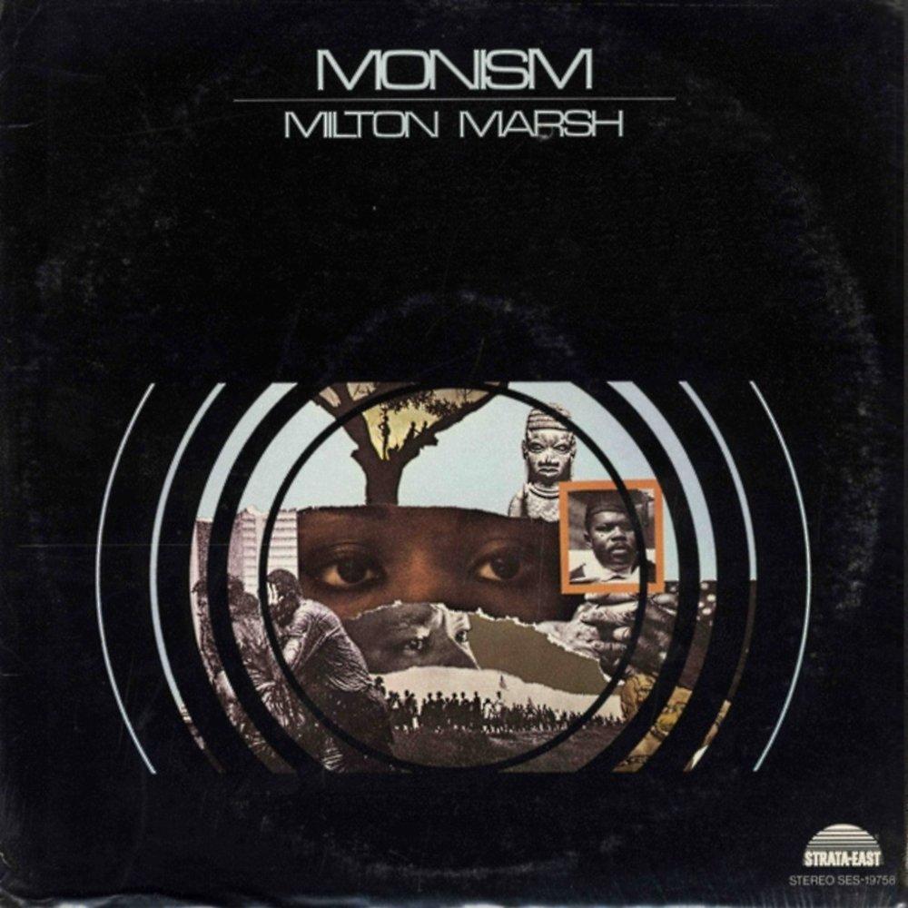 Byard's collage design for Milton Marsh's  Monism , Strata-East, 1975