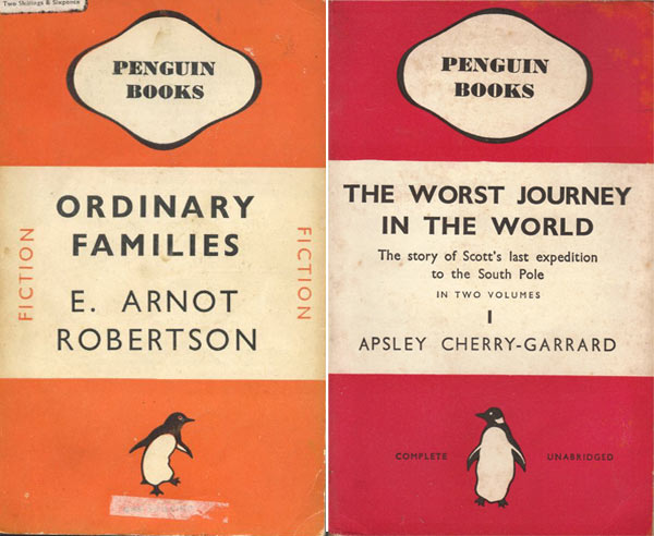 Some of Jan Tschichold's designs for Penguin Books