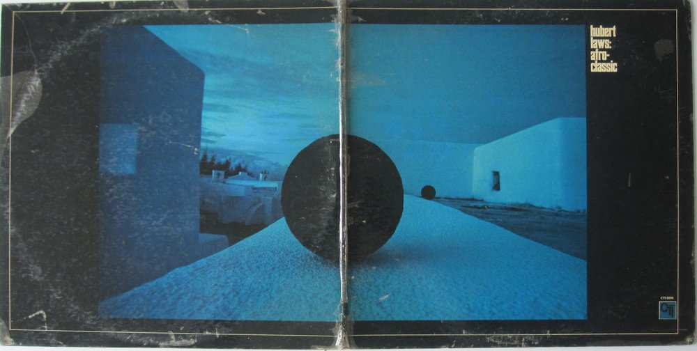 Complete gatefold view of  Afro-Classic . Turner and Taylor were fond of wrapping images around the back of an album.