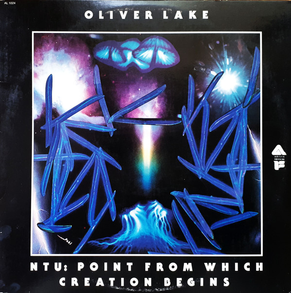 Pohl's artwork for Oliver Lake,  NTU: Point From Which Creation Begins , Arista, 1976.