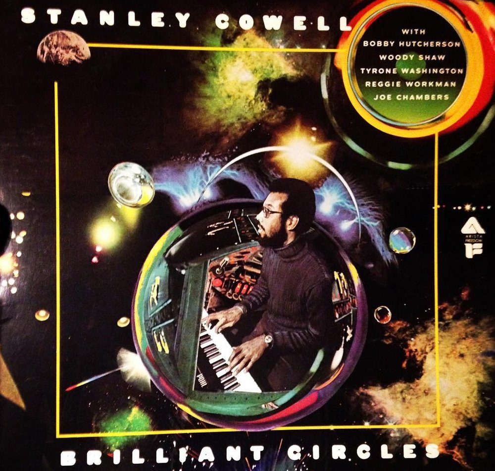 Pohl's artwork for Stanley Cowell,  Brilliant Circles , Arista, 1975.