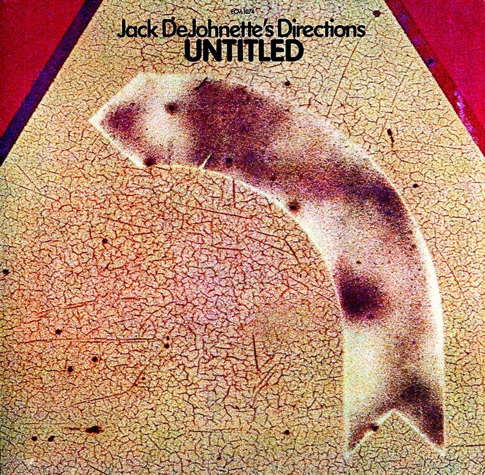Grindler's design for Jack DeJohnette's Directions'  Untitled , ECM Records, 1976