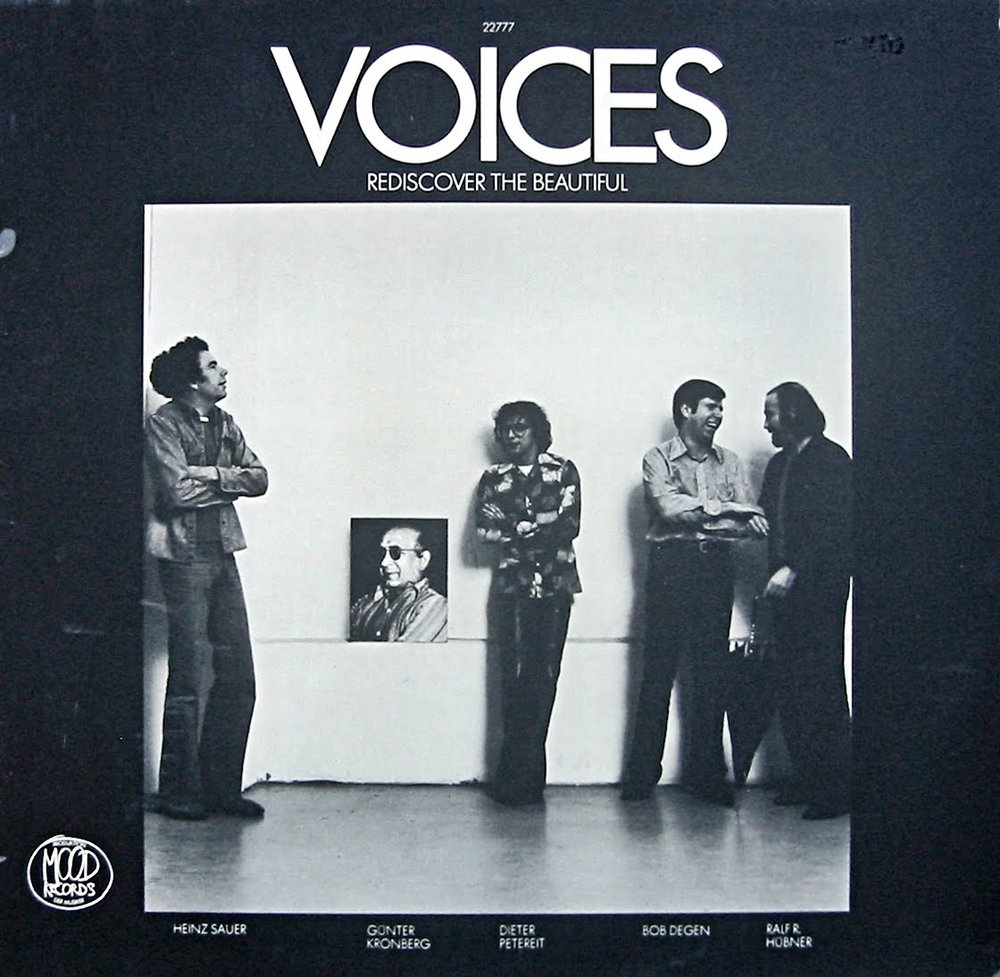 Grindler's work for Voices'  Rediscover the Beautiful,  Mood Records, 1977