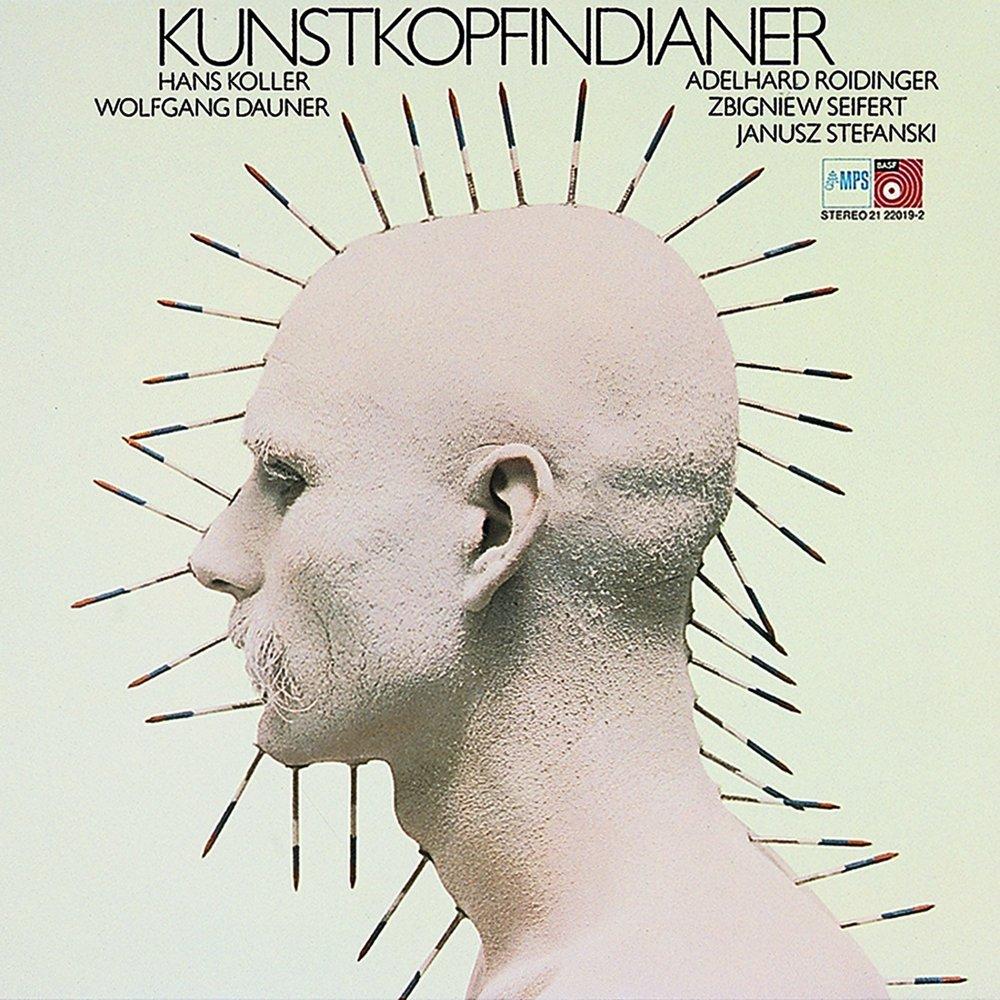 Grindler's design for Hans Koller and Wolfgang Dauner,  Kunstkopfindianer,  MPS Records, 1974